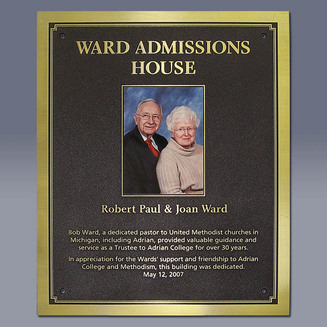 Admissions House Plaque