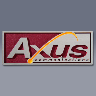 Axus Rectangular Plate Nameplate