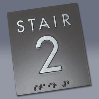 Stair 2  Braille Sign