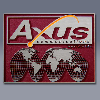 Axus Square Plate Nameplate