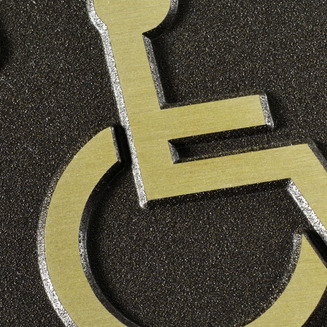Close up of Wheel Chair Pictogram